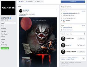 Gigabyte Facebook
