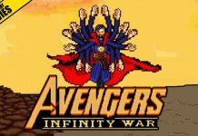 Scene Avengers VS Thanos Infinity War Versi 16 Bit
