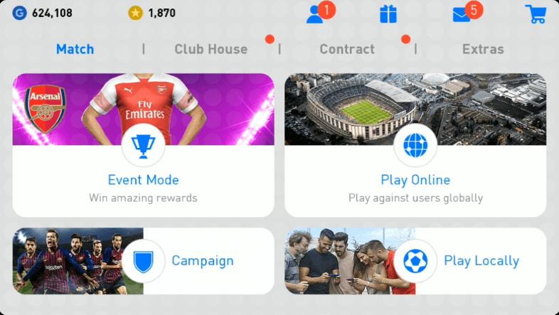 Match Menu PES 2019 Android