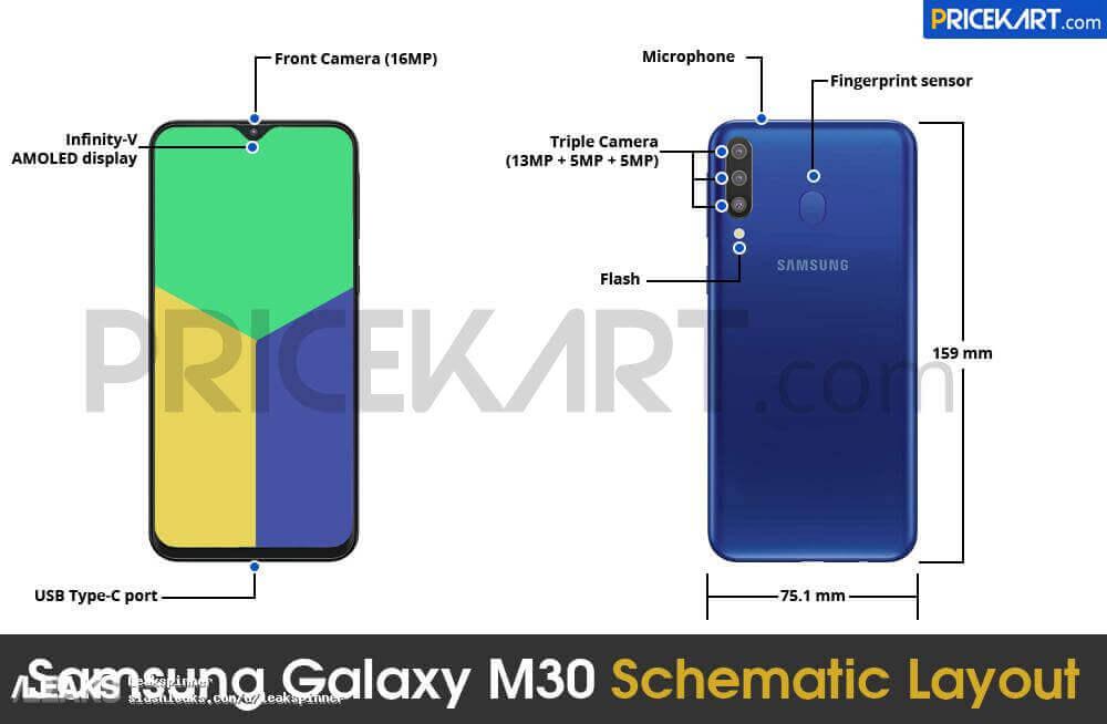 Samsung Galaxy M30 Skema