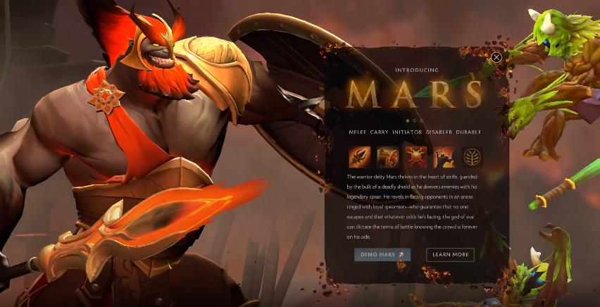 mars new hero dota