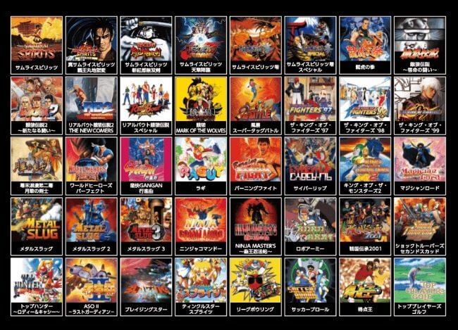 Neo Geo Mini Transparan
