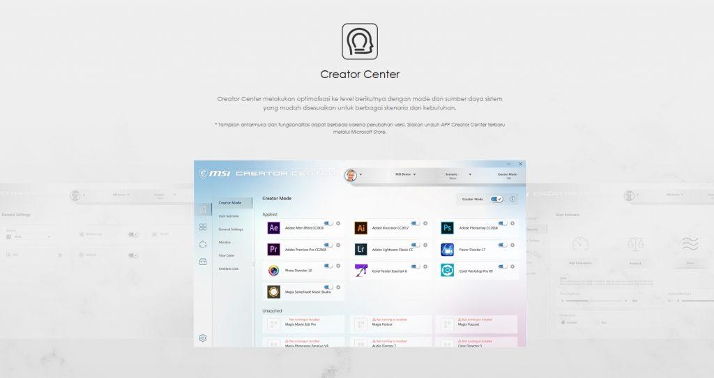 MSI Creator Center